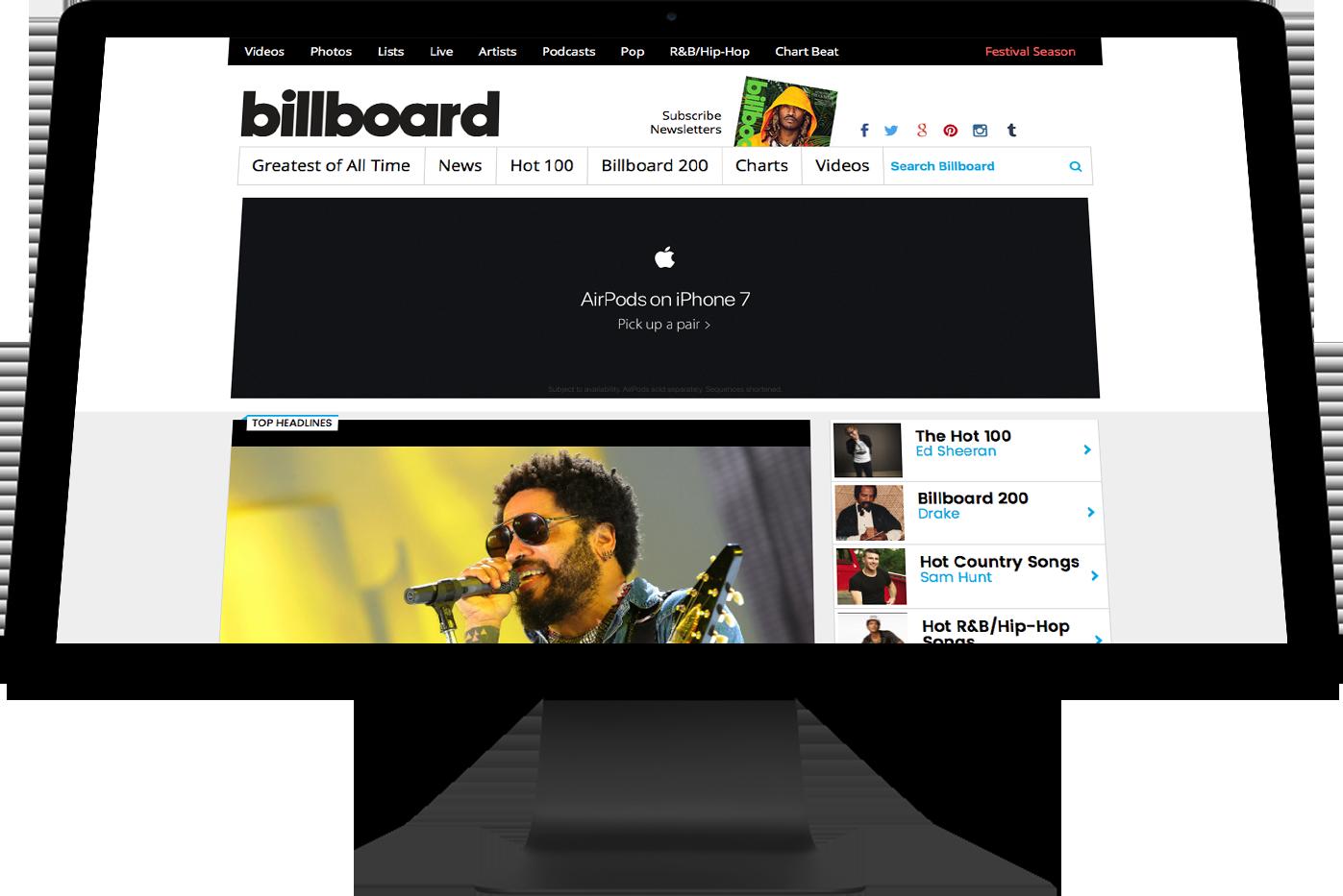 Billboard Header Overlaying Image