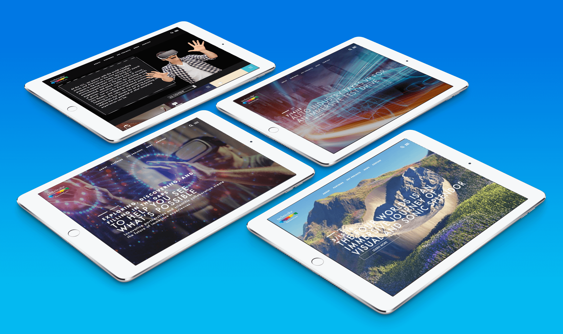 Technicolor Experience Center pages optimized for iPad