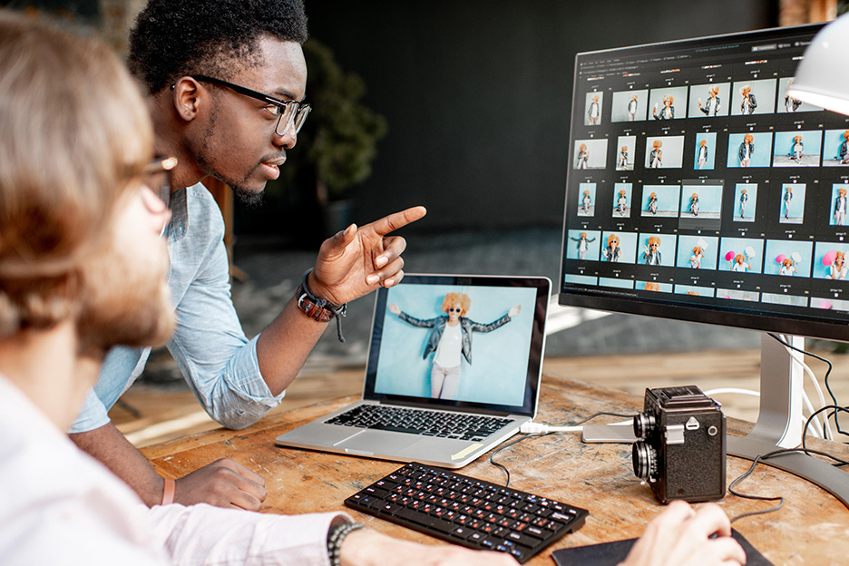 Art Director selecting images